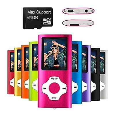 Mymahdi – Digital, Compact et Portable Lecteur MP3/MP4 (Max Support 64 GB) avec Photo Viewer, E-Book Reader et Radio FM Enregistreur Vocal et vidéo vidéo en Rose … par MYMAHDI