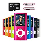Mymahdi MP3/MP4 Portable Player,Pink With 1.8 Inch LCD Screen and Micro SDHC Card Slot,Max Support 128GB Micro SD TF Card