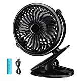 USB Desk Fan, VicTsing Mini Desktop Silent Cooling Fan with Adjustable Angle, ON and OFF Switch Perfect for Laptop Notebook PC Desk Table Fan - Black
