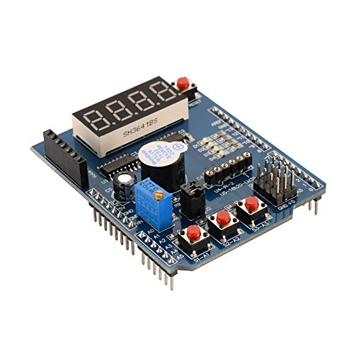 Multi-Function Shield Expansion Board Prototype Module with Buzzer LED Indicator Compatible Arduino 2009 UNO LENARDO Mega2560