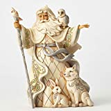 Jim Shore HWC One Love para todos Blanco Woodland Papá Noel Figura de Navidad 4053686