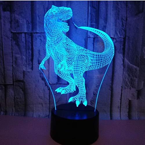 3D Illusion Dinosaurios Lámpara luces noche