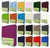 leevitex Kinder Jersey Spannbettlaken, Spannbetttuch 100% Baumwolle in vielen Größen und Farben MARKENQUALITÄT ÖKOTEX STANDARD 100 | 70x140 cm - Pink