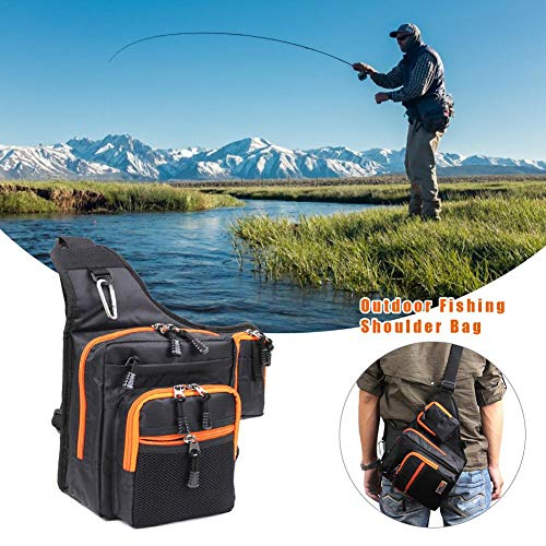 Gaeruite fishing tackle storage bag, multifunzionale fishing sling vita marsupio impermeabile pesca storage bag per il campeggio viaggiare