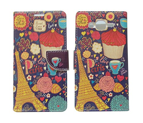 Sharp Icon Fancy Printed Designer Leather Flip Wallet Back Cover Case for Samsung Galaxy On5,On5 Pro