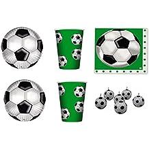 Vajilla infantil Sport Fútbol para cumpleaños eventos addobbi Tabla Día – Kit N ° 10 cdc