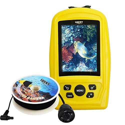 LUCKY tragbare Unterwasserjagd & Inspektion Kamera Videosystem Kit w / 3,5-Zoll-Handheld-Live-View-Display Farbmonitor, 20m Kabel, Kamera mit Weitwinkelobjektiv Winkel & fernen Infrarot-LED