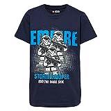 LEGO Jungen T-Shirt Boy Star WARS-CM-50100-T-SHIRT, Mehrfarbig (Dark Navy 590), 110