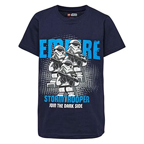 LEGO Jungen Boy Star WARS-CM-50100-T-SHIRT T-Shirt, Mehrfarbig (Dark Navy 590), 104 - Für Star Kids Wars