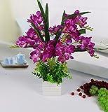 JFWMZyq Künstliche Blumen Topfpflanzen Home Dekoration Violett A Freesie