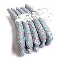 Florence Lilly ~ PACK OF 10 QUALITY STRONG PADDED CLOTHES HANGERS, in a variety of beautiful fabrics.