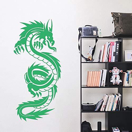 Drachen Vinyl Kunst Wandaufkleber Poster Wohnzimmer Dekoration Schlafzimmer Aufkleber Chinese Dragon Decor ~ 1 42 * 90 cm - Dornröschen Drache