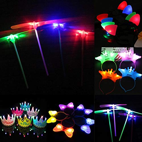 Keptei LED Leuchten Stirnband Crown Bow Ohren Haarband LED Flying Dragonfly Party Kostüm Lernspiele Mit Batterie