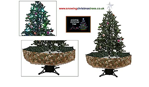 Snowing Christmas Tree Snow Cascading 1.7 M Green Umbrella Base LED Lights  Musics Baubles Decorations: Amazon.co.uk: Kitchen & Home - Snowing Christmas Tree Snow Cascading 1.7 M Green Umbrella Base LED