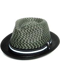 cdfe3df06ff83 Dasmarca Summer Foldable Packable Multicoloured Trilby Hat - Adrian - Green  - X-Large