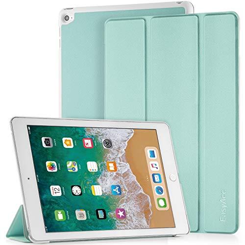 EasyAcc Hülle für iPad Air 2, Ultra Slim Cover Schutzhülle PU Lederhülle mit Standfunktion/Auto Sleep Wake Up Funktion Kompatibel für iPad Air 2 2014 Modell Number A1566/A1567 - Minzgrün