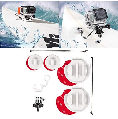 micros2u Surfbrett Surfen Mount Kit für Gopro Hero 33+ 456& Session. Inklusive Sicherheit Tether & Locking FCS Plug
