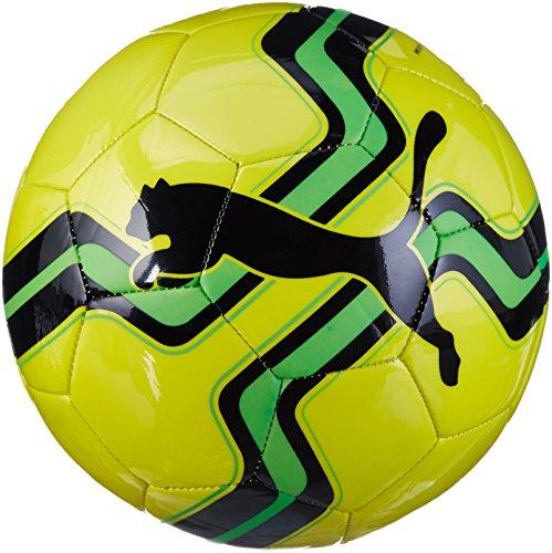 PUMA Big Cat Ball, Safety Yellow-Green Gecko-Puma Black, 5 (Big Cat Puma)