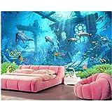 zhimu Fond d'écran 3D du Mur sous-Marin du Monde sous-Marin de l'océan 3D de Papier Peint de Chambre d'enfants pour des Murs 210cmx140cm