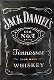 Jack Daniels - Old No.7 schwarz Blechschild, 20 x 30 cm