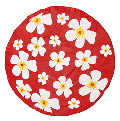 De ducha Gorra ducha colour Rojo Flores-de anillas