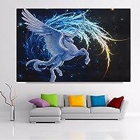 Bluelover Cavallo dell'unicorno di 5D diamante mosaico
