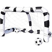 Bestway - But de football gonflable 213 x 122 x 137 cm avec 2 ballons 36 cm