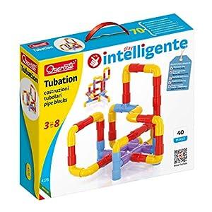 Flair Leisure Quercetti 4175 Juguete de construcción - Juguetes de construcción (Tube Set, Azul, Rojo, Amarillo, 3 año(s), 40 Pieza(s), Niño/niña, Niños)
