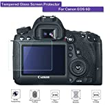 Canon EOS 6D Screen Protector - Fiimi LCD Tempered Glass Screen Protector For Canon EOS 6D,9 H Hardness,0.3mm Thickness,Made From Real Glass (Tempered Glass)