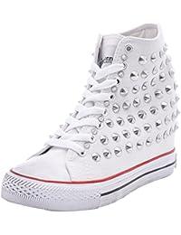 Sneakers, Sneaker a Collo Alto Donna, Argento, 38 EU Prima Donna