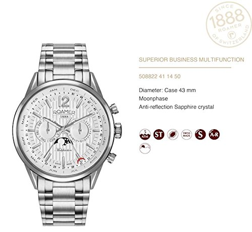 Roamer reloj hombre Superior Business Multifunktion 508822 41 14 50