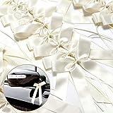 50x Antena lazos Cream AUTO joyas para Boda
