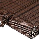 WY Bamboo Tenda a Rullo Filtering Luce Naturale Finestra Romana Shades Parasole Outdoor Indoor Garden Balcone, Misura 3 Stili Personalizzabili (Color : Brown, Size : 150X300CM)