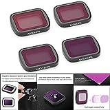 Accessoires pour Poche DJI OSMO. Pondkoo Lot de 4 filtres magnétiques en Aluminium ND4-PL/ND8-PL/ND16-PL/ND32-PL