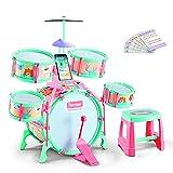 GODNECE Schlagzeugset für Kinder, Kinder Schlagzeug Set mit Drumsticks Kinder Zubehör Kinderschlagzeug ab 3 Jahre