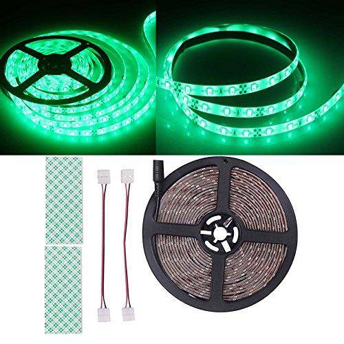 BIHRTC 12V DC IP65 Wasserfest Grün 5630 SMD 5M/16.4ft 300 LED Streifen Lichtleiste Lichtband led band für Küchenschrank Schlafzimmer Startseite dekorative Beleuchtung Innenraum [Energieklasse A+]