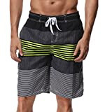 SHEKINI Herren Badeshorts Badehose Beach Shorts Bermuda Shorts Sommer Strand Sport Shorts Größen 28-36 (30, Grün)