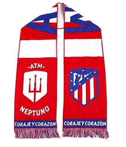 Bufanda Atlético de Madrid tridente Neptuno vertical escudo nuevo