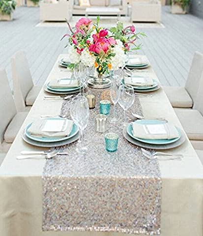 12''*72'' Sequin Table Runner Sparkly Birthday Party, Dinner Party, Additional