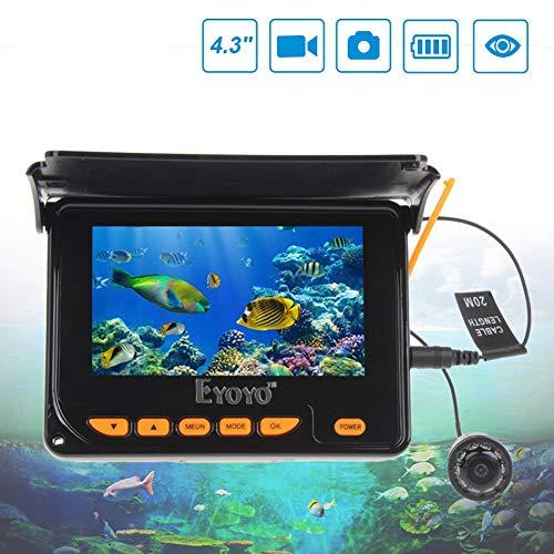 Portable Fischfinder 4,3 Zoll Hd-Foto-Video-Fisch-Sucher Infrarot-Unter wasserfischer Geeignet füR Angler,30m