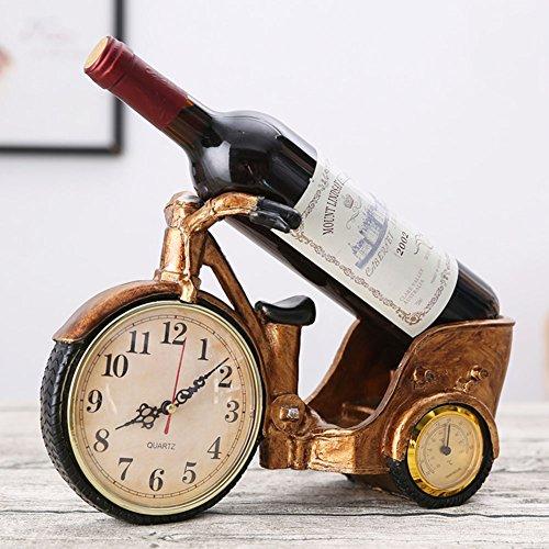 TY&WJ Kreativ Uhren Wine Bottle Holder Europäischer Stil Vintage Auto Modellierung Wine Regal Haushalt Dekoration Dekoration Steht Geschenke Wein-Rack-E