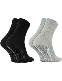Rainbow Socks Calcetines ANTIDESLIZANTES ABS ALGODÓN, Ideales para: Suelos Resbaladizos, Yoga, Trampolines, Stretching |COLORIDOS, Para Mujeres y Hombres, el Certificado Oeko-Tex, Made in UE