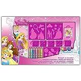 Arditex - 006374 - colorear Disney - Set Para plantillas y Pads - Princesas