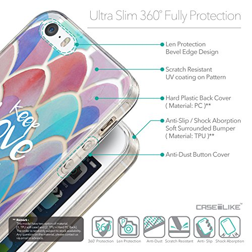 CASEiLIKE Zitat 2402 Ultra Slim Back Hart Plastik Stoßstange Hülle Cover for Apple iPhone SE +Folie Displayschutzfolie +Eingabestift Touchstift (Zufällige Farbe) 2417