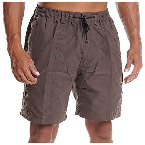 Herren Cargo Bermuda Hose kurz Shorts Sommer Gürtel Pasteur Capri Casual H2079, Größe:L;Farbe:Braun