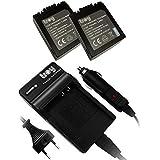 2x Batterie rechargeable structurellement identiques CGA-S006, CGA-S006E, CGR-S006E + Chargeur pour Panasonic Lumix DMC-F27 DMC-FZ30 DMC-FZ7 DMC-FZ8 DMC-FZ18 DMC-FZ30EG DMC-FZ30-K DMC-FZ50