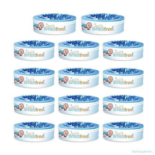 Smellfree kompatible Nachfüllkassetten für Angelcare-Windeleimer 12er Pack +2 Gratis
