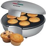 Muffinmaker 900 Watt Backgerät Backautomat Muffin Bomann MM 5020 silber