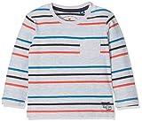 TOM TAILOR Kids Baby-Jungen Langarmshirt Striped T-Shirt with Pocket Grau (Light Silver Melange 2014), 92