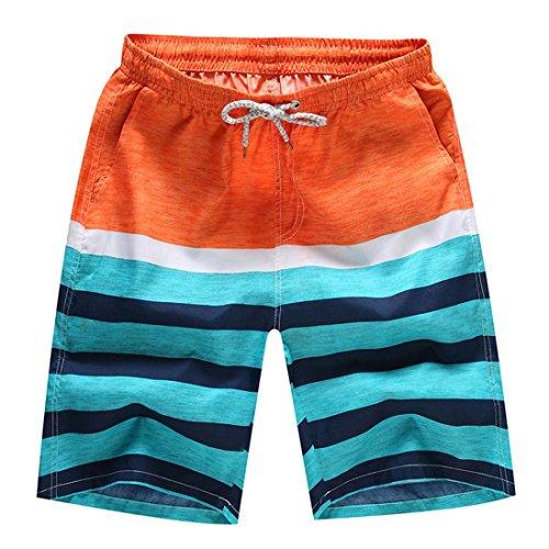 Rusty Herren Bademode (Herren Freizeithose aus Baumwolle Strandhosen Badehose GreatestPAK Orange)